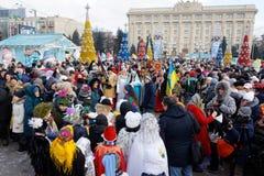 Παρέλαση Nativity Verteps Στοκ φωτογραφία με δικαίωμα ελεύθερης χρήσης