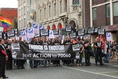 παρέλαση UK του Μάντσεστερ & Στοκ Φωτογραφία