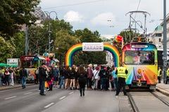 Παρέλαση Βιέννη ουράνιων τόξων Στοκ Φωτογραφία