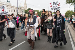 Παρέλαση Βιέννη ουράνιων τόξων Στοκ εικόνες με δικαίωμα ελεύθερης χρήσης
