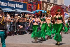 Παρέλαση γοργόνων Coney Island στοκ εικόνες με δικαίωμα ελεύθερης χρήσης