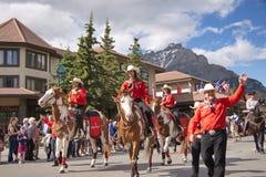 Παρέλαση ημέρας του Καναδά σε Banff Στοκ εικόνες με δικαίωμα ελεύθερης χρήσης