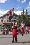 Παρέλαση ημέρας του Καναδά σε Banff Στοκ φωτογραφία με δικαίωμα ελεύθερης χρήσης