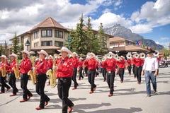 Παρέλαση ημέρας του Καναδά σε Banff Στοκ Φωτογραφία