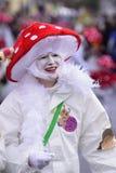 Παρέλαση καρναβαλιού με τα ζωηρόχρωμα costums Στοκ Φωτογραφία