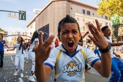 2015 παρέλαση πολεμιστών πρωταθλήματος ΝΒΑ στοκ φωτογραφία με δικαίωμα ελεύθερης χρήσης