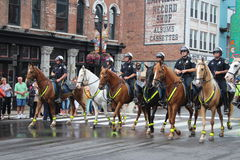 Παρέλαση σε Broadway στο Νάσβιλ, Τένεσι Στοκ εικόνα με δικαίωμα ελεύθερης χρήσης