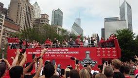 Παρέλαση Σικάγο φλυτζανιών του Stanley Blackhawks Στοκ Εικόνες