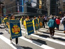 Παρέλαση στην πόλη της Νέας Υόρκης, NYC, Νέα Υόρκη, ΗΠΑ Στοκ Εικόνες