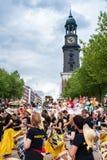 Παρέλαση στο «Michel» Αμβούργο Στοκ φωτογραφία με δικαίωμα ελεύθερης χρήσης