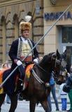 Παρέλαση 70 συμμετεχόντων, είκοσι άλογα και σαράντα μέλη της μπάντας έχουν αναγγείλει τα επόμενα 300 Alka Στοκ φωτογραφία με δικαίωμα ελεύθερης χρήσης