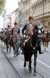 Παρέλαση 70 συμμετεχόντων, είκοσι άλογα και σαράντα μέλη της μπάντας έχουν αναγγείλει τα επόμενα 300 Alka Στοκ εικόνες με δικαίωμα ελεύθερης χρήσης