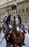 Παρέλαση 70 συμμετεχόντων, είκοσι άλογα και σαράντα μέλη της μπάντας έχουν αναγγείλει τα επόμενα 300 Alka Στοκ εικόνα με δικαίωμα ελεύθερης χρήσης
