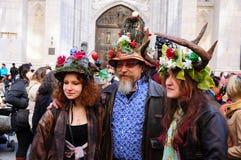 Παρέλαση της Νέας Υόρκης Πάσχα και φεστιβάλ 2015 καπό Πάσχας Στοκ Εικόνες