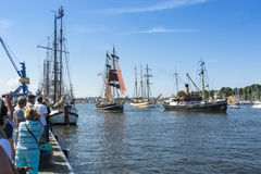Παρέλαση του πανιού $ροστόκ Hanse σκαφών Στοκ Εικόνες