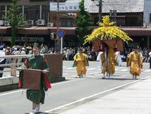 Παρέλαση του παραδοσιακού φεστιβάλ Aoi, Κιότο Ιαπωνία Στοκ Φωτογραφία