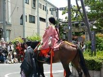 Παρέλαση του παραδοσιακού φεστιβάλ Aoi, Κιότο Ιαπωνία Στοκ εικόνες με δικαίωμα ελεύθερης χρήσης