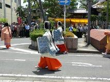 Παρέλαση του παραδοσιακού φεστιβάλ Aoi, Κιότο Ιαπωνία Στοκ φωτογραφία με δικαίωμα ελεύθερης χρήσης