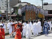 Παρέλαση του παραδοσιακού φεστιβάλ Aoi, Κιότο Ιαπωνία Στοκ Εικόνες