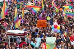 Παρέλαση υπερηφάνειας της Ιστανμπούλ LGBT Στοκ φωτογραφίες με δικαίωμα ελεύθερης χρήσης