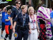 2016 παρέλαση υπερηφάνειας του Βανκούβερ στο Βανκούβερ, Καναδάς Στοκ εικόνα με δικαίωμα ελεύθερης χρήσης