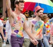 2016 παρέλαση υπερηφάνειας του Βανκούβερ στο Βανκούβερ, Καναδάς Στοκ φωτογραφία με δικαίωμα ελεύθερης χρήσης