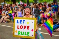 Παρέλαση 2017 υπερηφάνειας του Πόρτλαντ στοκ φωτογραφία με δικαίωμα ελεύθερης χρήσης