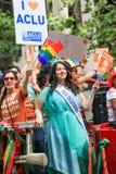 Παρέλαση υπερηφάνειας του Σαν Φρανσίσκο συν την Αμερική η Δεσποινίς California Στοκ Φωτογραφία