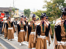 Παρέλαση φεστιβάλ φθινοπώρου Takayama στις πόλης οδούς Στοκ Φωτογραφία