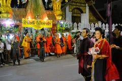 Παρέλαση φεστιβάλ Krathong Loy για Yee Peng, Chiang στοκ εικόνες