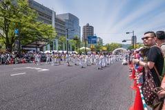Παρέλαση χορού Yosakoi Kinsai Στοκ εικόνες με δικαίωμα ελεύθερης χρήσης