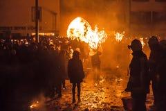 Παρέλαση Fastnach Chienbase και συμμετέχοντες σε Liestal, Ελβετία Στοκ Φωτογραφίες