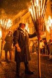 Παρέλαση Fastnach Chienbase και συμμετέχοντες σε Liestal, Ελβετία στοκ φωτογραφία με δικαίωμα ελεύθερης χρήσης