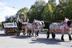 Παρέλαση Oktoberfest Στοκ Φωτογραφίες