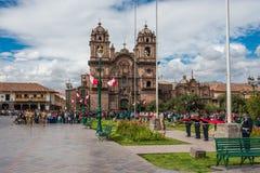 Παρέλαση Plaza de Armas Cuzco Περού στρατού Στοκ εικόνες με δικαίωμα ελεύθερης χρήσης