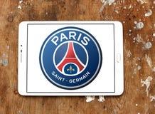 Παρίσι Άγιος Ζερμαίν, λογότυπο λεσχών ποδοσφαίρου PSG Στοκ φωτογραφία με δικαίωμα ελεύθερης χρήσης