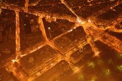 Παρίσι άνωθεν τη νύχτα Στοκ φωτογραφίες με δικαίωμα ελεύθερης χρήσης