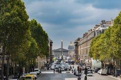 Παρίσι, άποψη του Concorde, το Επιμελητήριο των αναπληρωτών και το DÃ Στοκ Εικόνα