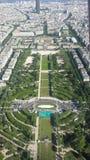 Παρίσι από τον πύργο του Άιφελ Στοκ εικόνα με δικαίωμα ελεύθερης χρήσης