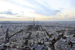 Παρίσι Γαλλία πύργος του Άιφελ πανοραμική όψη πόλεων στοκ φωτογραφία