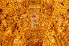 Παρίσι, Γαλλία, στις 31 Μαρτίου 2017: Εσωτερική άποψη της όπερας εθνικό de Παρίσι Garnier, Γαλλία Χτίστηκε από το 1861 Στοκ Φωτογραφίες
