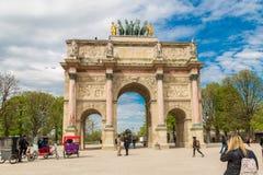 Παρίσι, Γαλλία, στις 31 Μαρτίου 2017: Το ιπποδρόμιο de Triomphe du τόξων είναι μια θριαμβευτική αψίδα στο Παρίσι, που βρίσκεται σ Στοκ Φωτογραφία