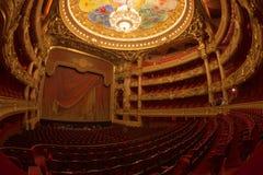 Παρίσι, Γαλλία - τον Οκτώβριο του 2017: Αίθουσα συνεδριάσεων μέσα της όπερας Garnier του Palais Garnier στο Παρίσι, Γαλλία Ο επτά Στοκ Εικόνες