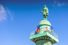 Παρίσι, Γαλλία - 2 Μαΐου 2017: Στήλη Vendome με το άγαλμα Napol Στοκ φωτογραφίες με δικαίωμα ελεύθερης χρήσης