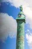 Παρίσι, Γαλλία - 2 Μαΐου 2017: Στήλη Vendome με το άγαλμα Napol Στοκ Εικόνα