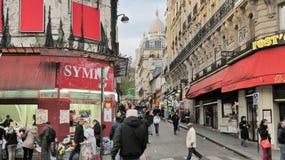 Παρίσι, Γαλλία - 24 Μαρτίου 2014 - νεφελώδης ημέρα άνοιξη σε Montmartre Στοκ Εικόνες
