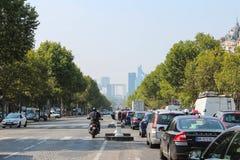 Παρίσι, Γαλλία - 4 Σεπτεμβρίου 2012: Οι κεντρικές οδοί του Παρισιού Στοκ Εικόνα