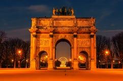 Παρίσι, Γαλλία: Arc de Triomphe du ιπποδρόμιο Στοκ Εικόνες
