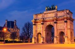 Παρίσι, Γαλλία: Arc de Triomphe du ιπποδρόμιο Στοκ φωτογραφία με δικαίωμα ελεύθερης χρήσης