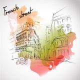 Παρίσι επίσης corel σύρετε το διάνυσμα απεικόνισης Στοκ Φωτογραφίες